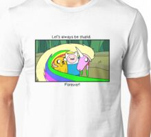 """Adventure Time """"Let's Be Stupid."""" Unisex T-Shirt"""