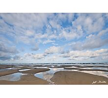 Pacific Ocean Beach at Low Tide Photographic Print