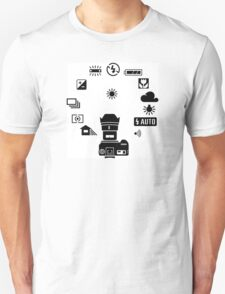 Camera settings control Dial Unisex T-Shirt