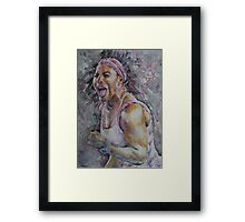 Serena Williams - Portrait 4 Framed Print