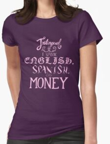 trilingual Womens Fitted T-Shirt