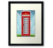 Vintage Telephone Box Framed Print