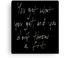 Wise Words. Canvas Print