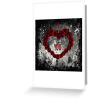Dark Valentine Greeting Card