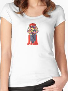 Retro Gum ball machine red Women's Fitted Scoop T-Shirt
