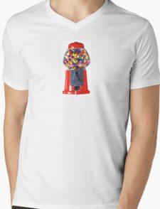 Retro Gum ball machine red Mens V-Neck T-Shirt
