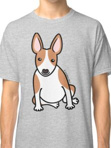English Bull Terrier Puppy Dog ... brown & white Classic T-Shirt