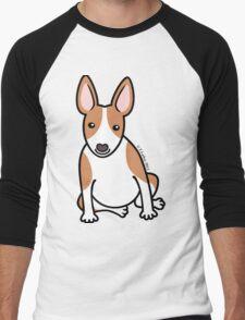 English Bull Terrier Puppy Dog ... brown & white Men's Baseball ¾ T-Shirt