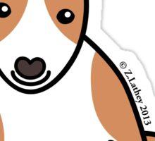 English Bull Terrier Puppy Dog ... brown & white Sticker