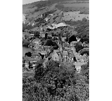 Black and White French City Landscape  Photographic Print