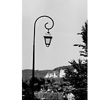 Vintage Lamp Post Black and White Photographic Print