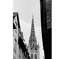Rouen Church Black and White  Photographic Print
