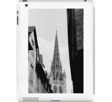 Rouen Church Black and White  iPad Case/Skin