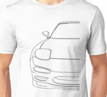 rx7 fd outline - black Unisex T-Shirt