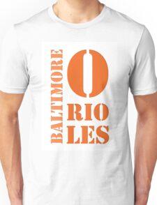 baltimore orioles typography Unisex T-Shirt