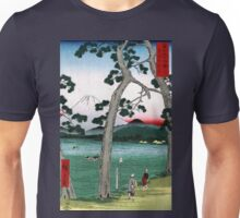 Utagawa Hiroshige Fuji on the Left of Tokaido Road Unisex T-Shirt