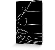 rx7 fd outline - white Greeting Card