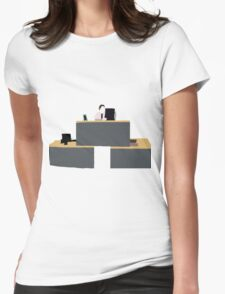 Quad Desk Womens Fitted T-Shirt