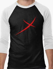 Red X Men's Baseball ¾ T-Shirt