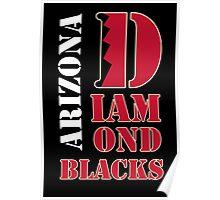 Arizona Diamondbacks typo logo Poster