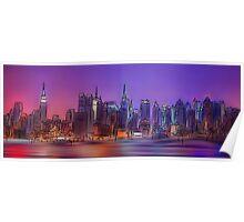 New York Skyline - digital abstract Poster