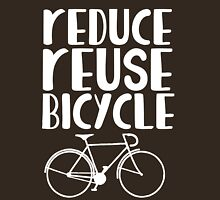 Reduce reuse bicycle   Womens Fitted T-Shirt