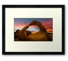 Mobius Arch in the Alabama Hills. Framed Print