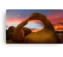 Mobius Arch in the Alabama Hills. Canvas Print