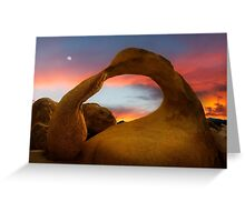 Mobius Arch in the Alabama Hills. Greeting Card