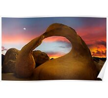 Mobius Arch in the Alabama Hills. Poster