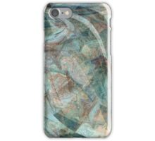 Abstract Digital Overlay in Bluegreen iPhone Case/Skin