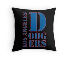 Los Angeles Dodgers typo Throw Pillow