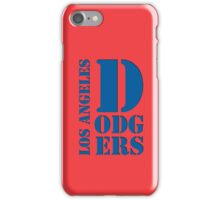 Los Angeles Dodgers Typography logo iPhone Case/Skin