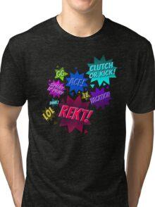 CS:GO Lingo Pattern Tri-blend T-Shirt