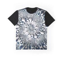 Snow & Ice Fine Fractal Art Graphic T-Shirt