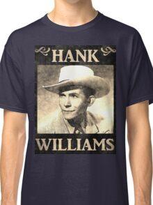 Hank Williams Vintage Digital Artwork Classic T-Shirt