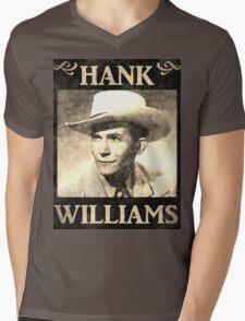 Hank Williams Vintage Digital Artwork Mens V-Neck T-Shirt