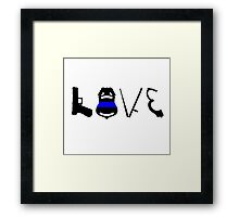 Love LEO Framed Print