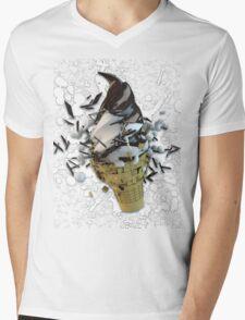 chocolate dip ice cream cone explosion Mens V-Neck T-Shirt
