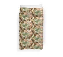Swept Layers Abstract Digital Art Duvet Cover
