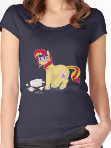 number one princess - sunset shimmer! Women's Fitted Scoop T-Shirt