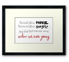 Adele When We Were Young Framed Print
