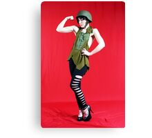 MIlitary Girl Canvas Print