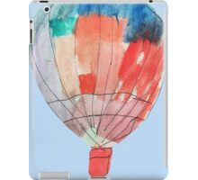 Watercolor and Pen and Ink Colorful Hot Air Balloon iPad Case/Skin