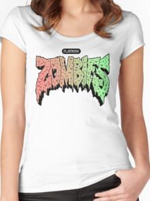Flatbush Zombies Logo Products HIGH DEF Women's Fitted Scoop T-Shirt