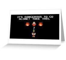 It's Dangerous To Go Alone Kingdom Hearts Greeting Card
