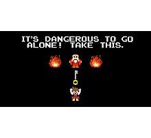 It's Dangerous To Go Alone Kingdom Hearts Photographic Print