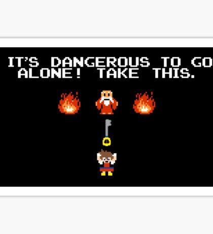 It's Dangerous To Go Alone Kingdom Hearts Sticker