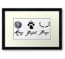 Moony, Padfoot and Prongs Framed Print