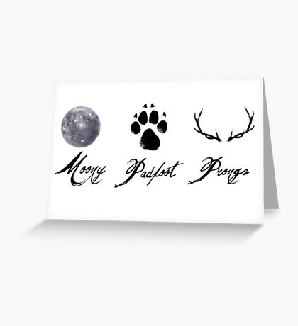 Moony, Padfoot and Prongs Greeting Card
